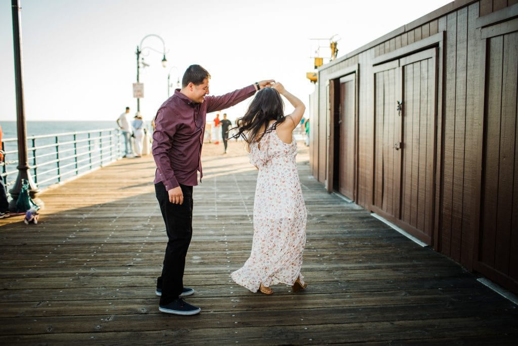 Santa Monica engagement Southern California wedding photographer Santa Monica Pier engagement