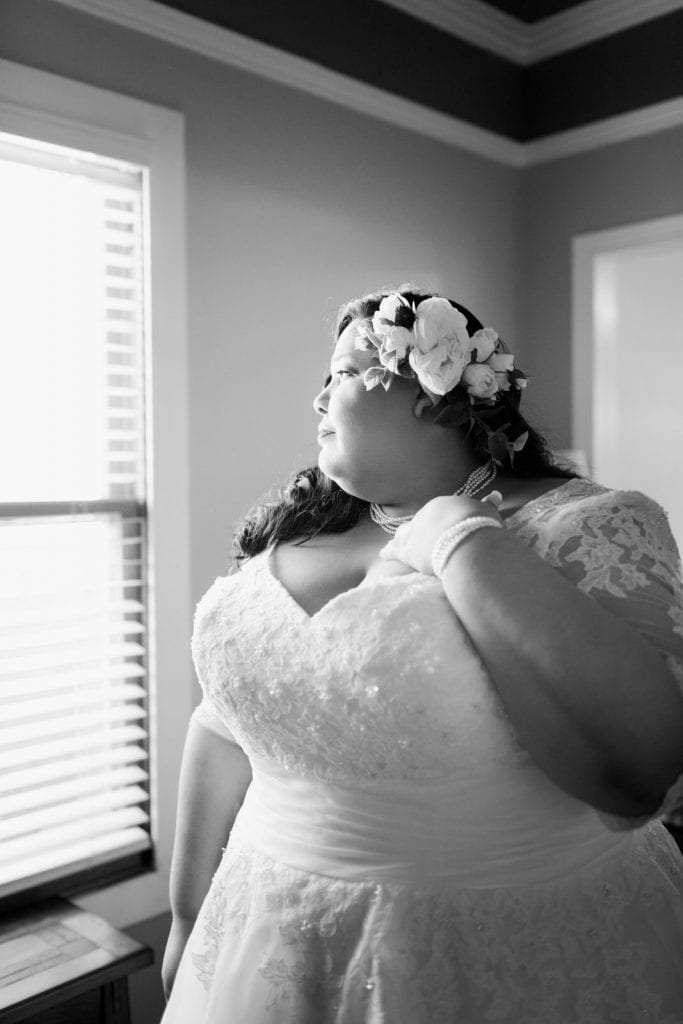 Plus sized bride vintage bride Southern California wedding photographer