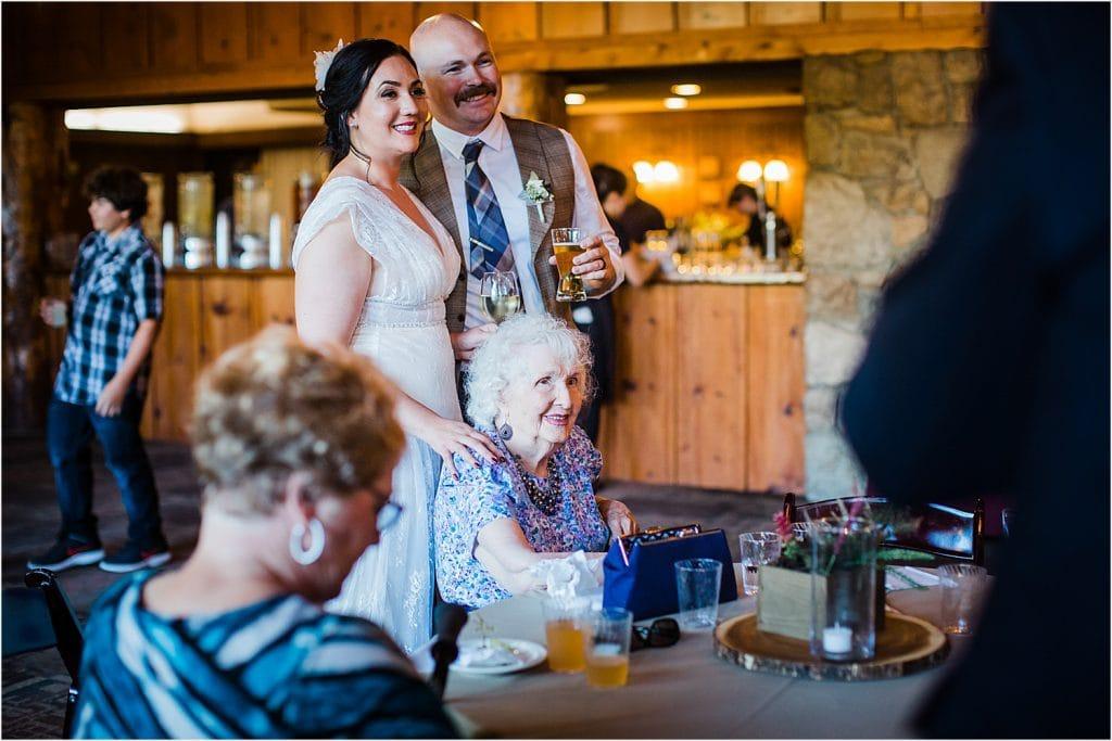San Moritz Lodge wedding Lake Gregory Lake Arrowhead fall
