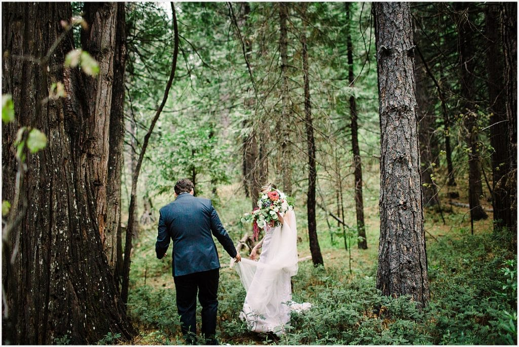 Black Bear Inn Forest Mountain Wedding Arnold Tattooed Bride